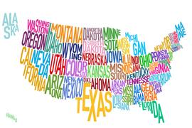 数多くの州から選べる留学先